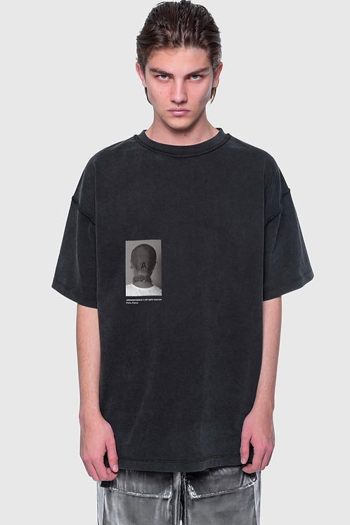 ARNODEFRANCE Inside-out T-shirt Vintage Black Print