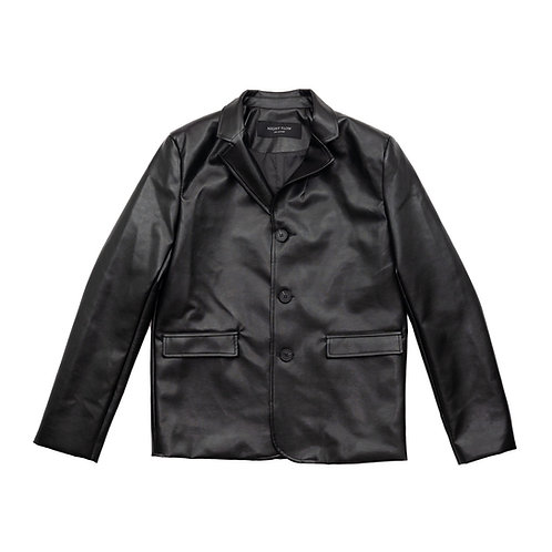 NIGHT FLOW Clasic Leather Blazer