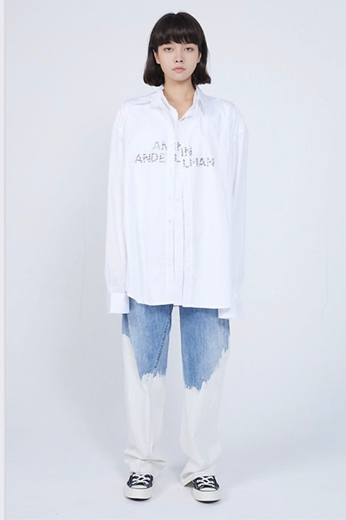 ANN ANDELMAN Blue-White Jeans