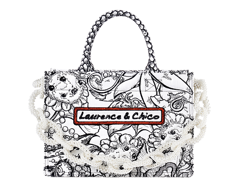 LAURENCE AND CHICO Van Dunsen Embroidery Tote Medium