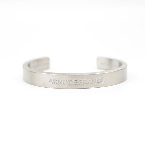 ARNODEFRANCE Open Cuff Steel Bangle