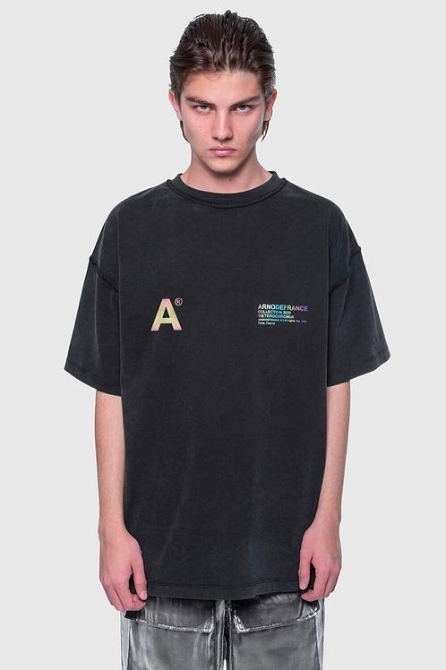 ARNODEFRANCE Inside-Out T Shirt Vintage Black 3m