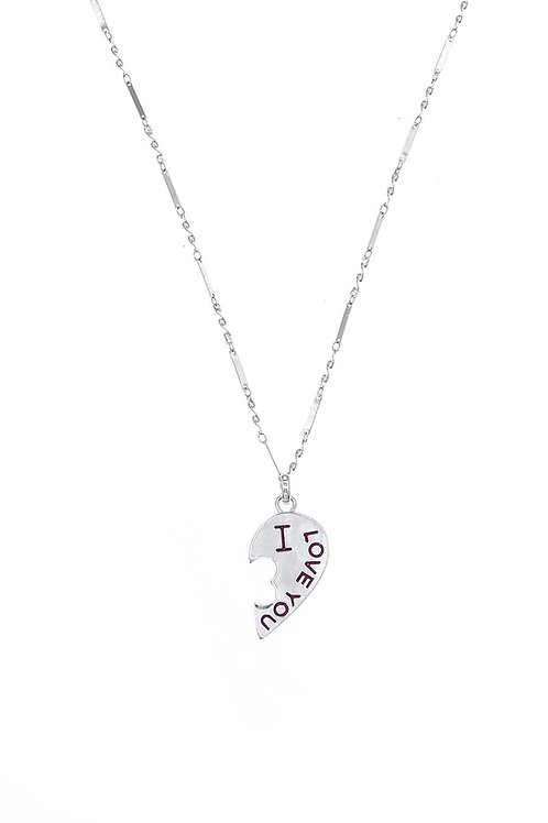 ATELIERSO 20SS Hearted Amour Necklace&RIng Set