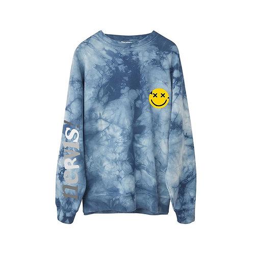 MAYHEM NERVIS Tie-Dye Puff Print Sweater