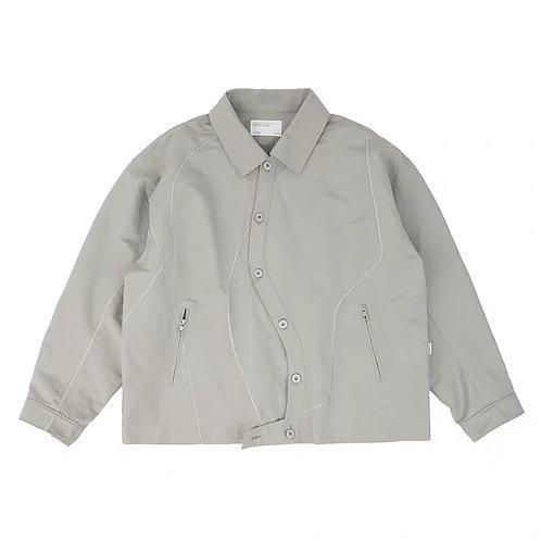 ATTEMPT Twisted Placket Stiff Jacket