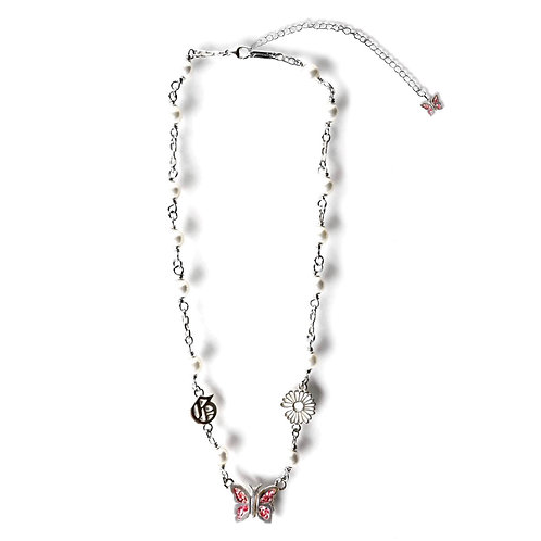 STUGAZI Butterfly Rose Pearl Necklace