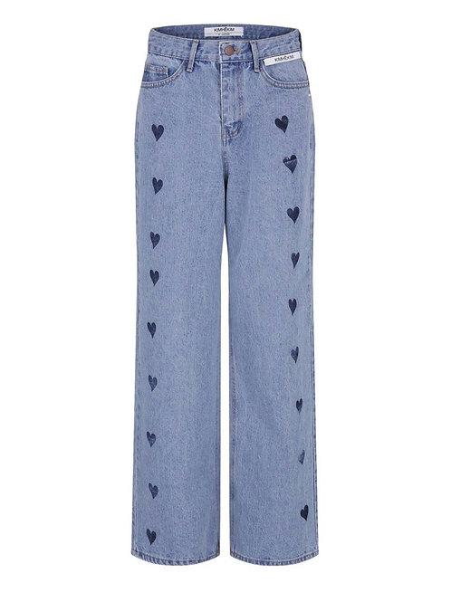 KIMHEKIM Heart Stamped Jeans