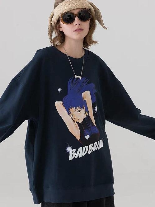 MODITEC Caroon Eva Pattern Oversize Sweater