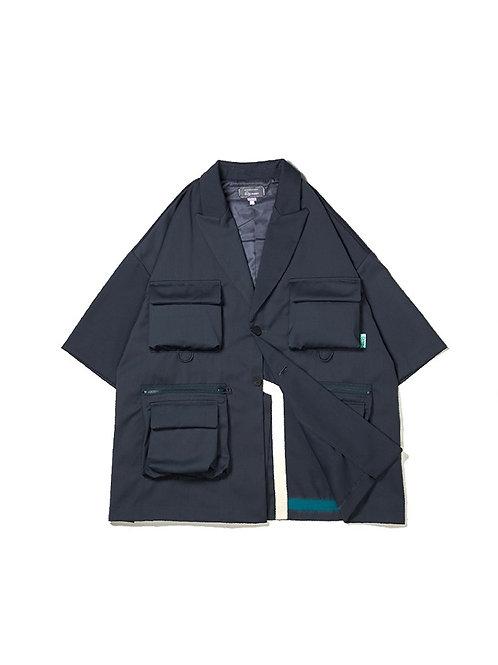 UMAMIISM Detachable Utility Pocket Detail Short Sleeve Blazer