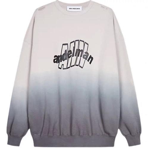 ANN ANDELMAN Gradation Crewneck Sweater