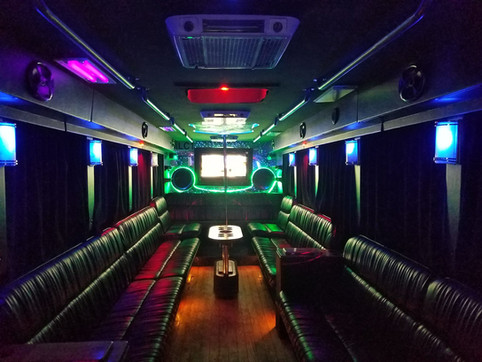 Celebrity Style Party Bus - Interior