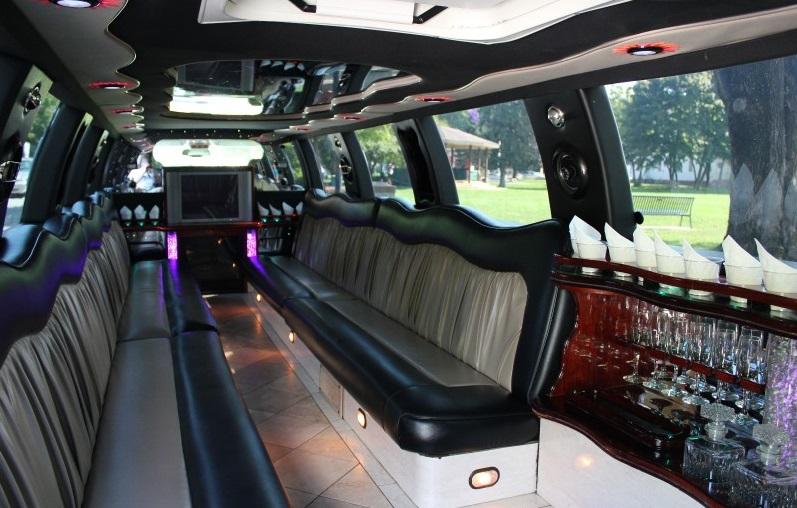 Cadillac Escalade Stretch Limo- Interior