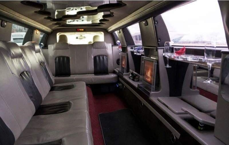 Chrysler 300 Stretched Limo Interior