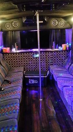 """Jet Black"" Party Bus- Interior"