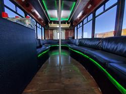 20 Pax Jet Black Party Bus Interior