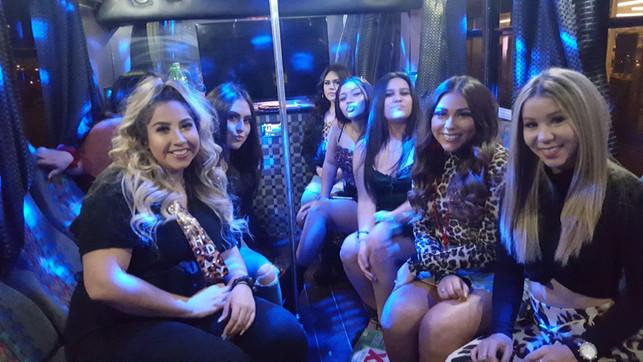Jet Black Party Bus - Interior
