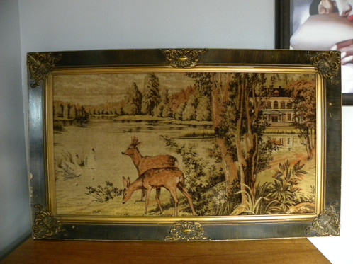 Large Antique Frame with Tapestry Antique furniture Canterbury