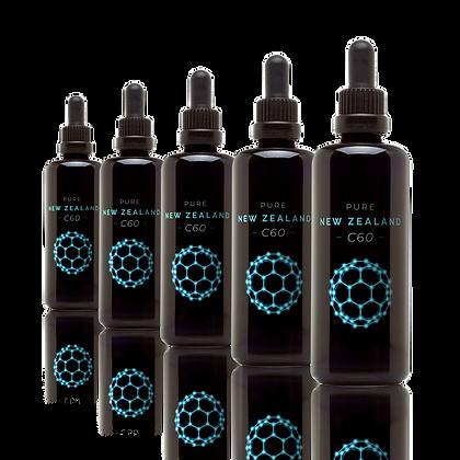 5 x100 ml C60 in Olive Oil (NZ$75/bottle)