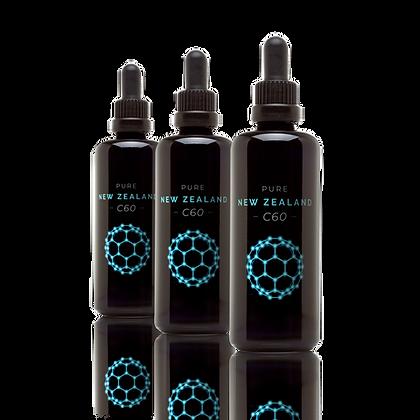 3 x 100 ml C60 in Olive Oil (NZ$80/bottle)