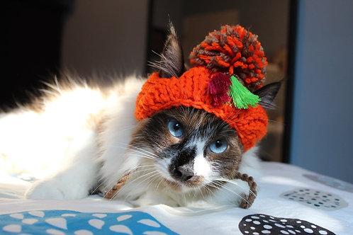 Handmade Cat Hats - Pumpkin