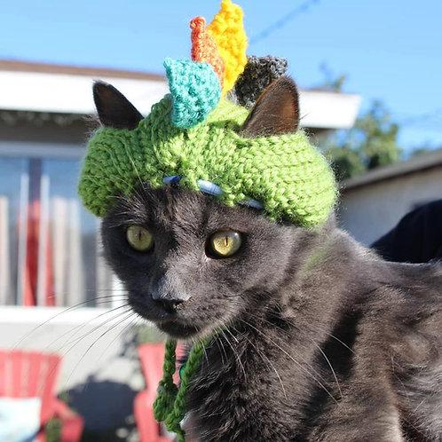 Handmade Cat Hats - Dinosaur