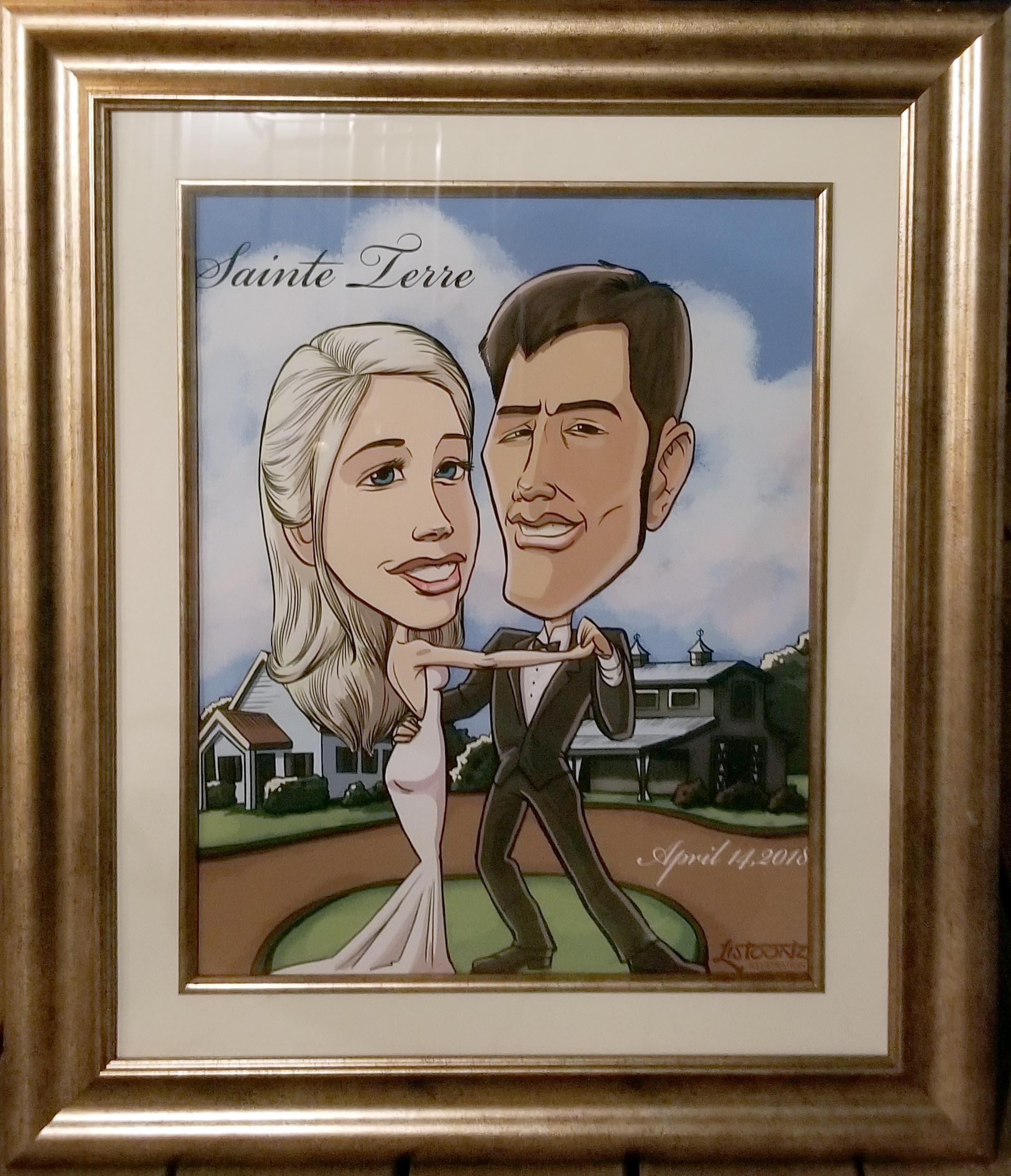Framed Wedding Sketch 2