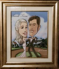 Framed Wedding Sketch 2