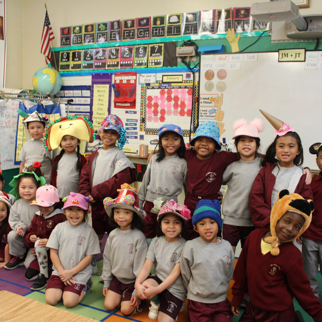 hat day kinder class.JPG