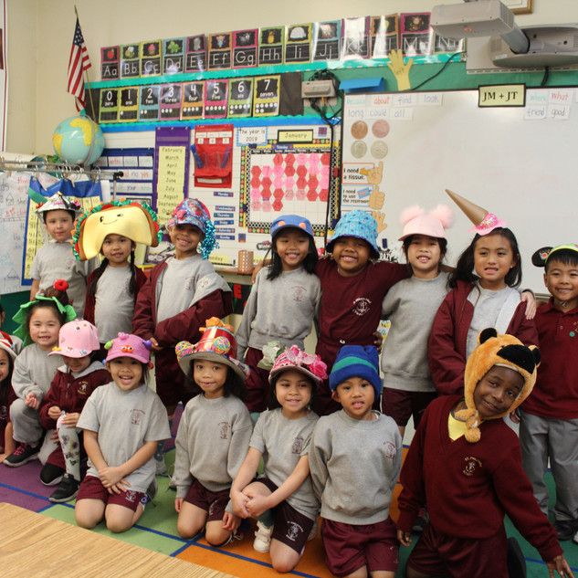 hat day kinder class.JPG