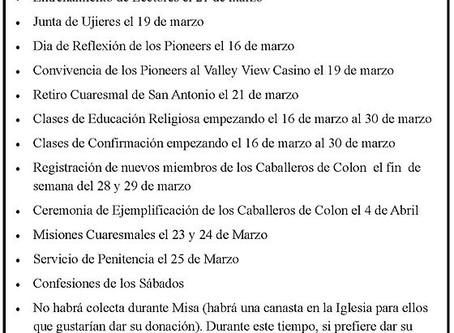 Eventos de Santa Filomena