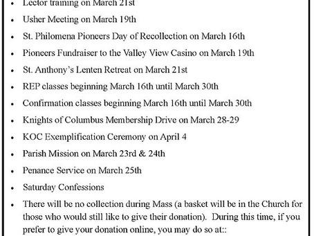 St. Philomena Events