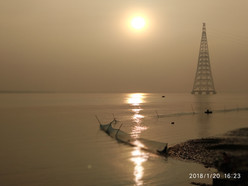 The Ganges at Sunset from the Jetty