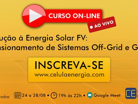 Introdução à Energia Solar FV: Dimensionamento de Sistemas Off-Grid e Grid-Tie