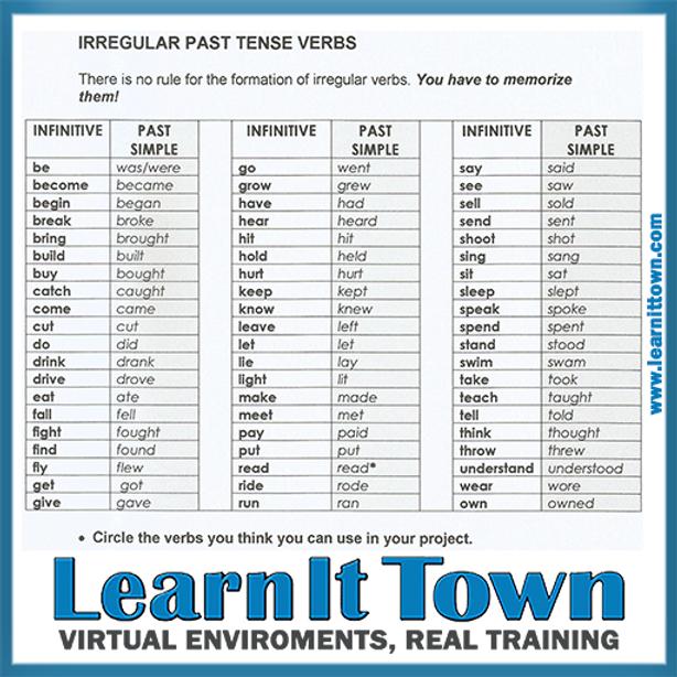 Common Irregular Verbs PDF