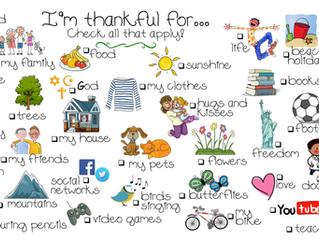 ESL Holiday - Thanksgiving Vocabulary