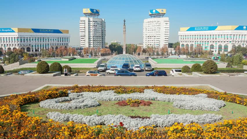 Almaty, Kazakhstan Town Square