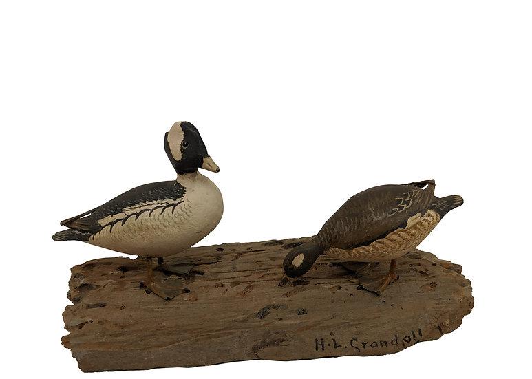 Miniature Bufflehead Pair - Horace L. Crandall