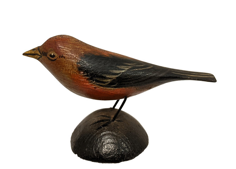 Scarlet Tanager Miniature - Elmer Crowell