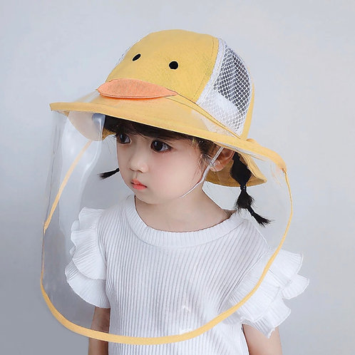 Gorro con careta protectora para infantes