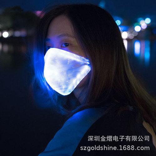 Mascarilla con luz LED de varios colores