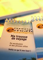 """«Formation estudio espagnol» est une entreprise spécialisée dans la conception et la vente de guide de voyage intitulé """"Ma trousse de voyage""""."""