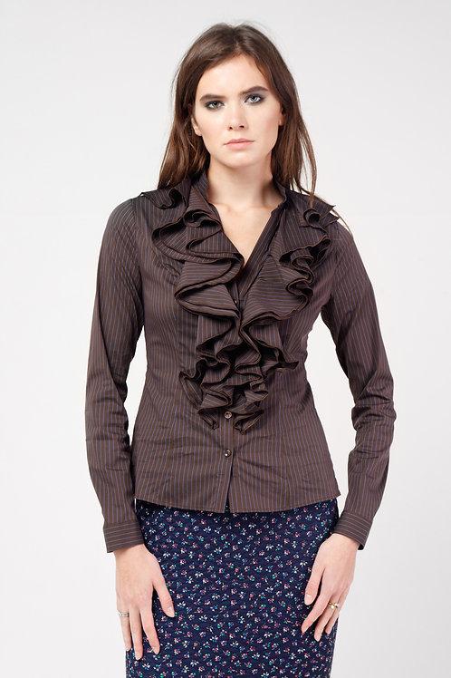 Блуза Кокилье коричневая