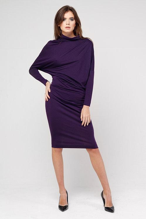 Платье ассиметрия фиолетовый