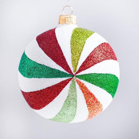 "#2103 - Thomas Glenn ""Pinwheel"" Ball Christmas Ornament"