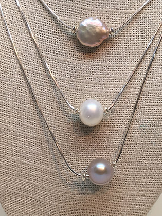Trinity 3 Chain Pearl Necklace