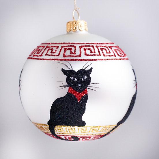 "#2150 - Thomas Glenn ""Purrfect"" Ball Christmas Ornament"