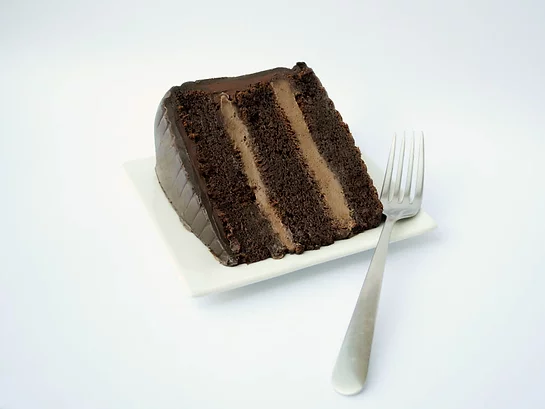 Chocolate Mousse Bliss Cake Slice