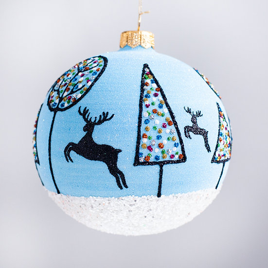 "#2107 - Thomas Glenn ""Dashing Through the Snow"" Ball Christmas Ornament"