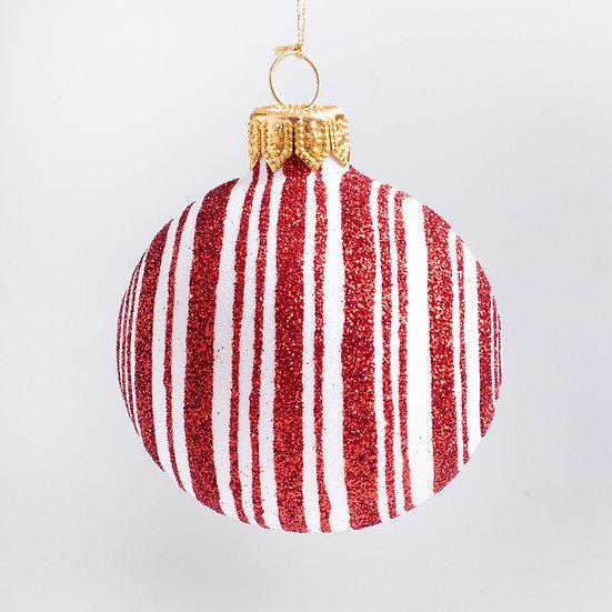 "#2199 - Thomas Glenn ""Peppermint Stick"" Mini Ball Christmas Ornament"