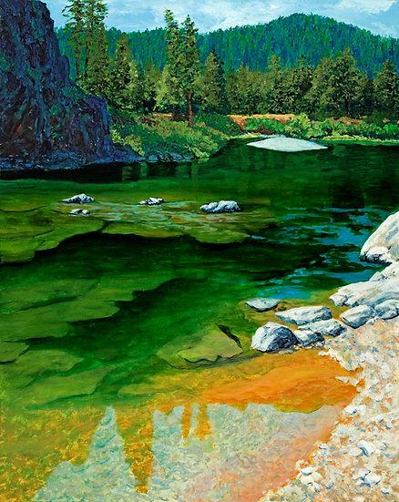 The Blackfoot's Deep Green Pools